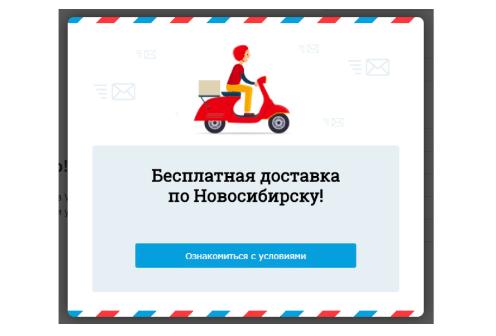 Рис. 9. Виджет адресован исключительно жителям Новосибирска